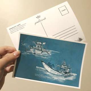 Boats Postcard by The Write Type