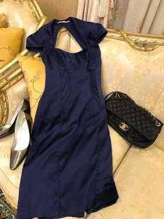 Karen Millen 藍色短版小禮服