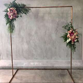 Wedding copper arch and shapes