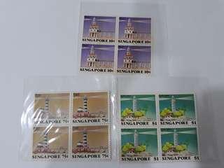 Singapor Mint stamp, block of 4.