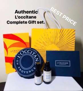 AUTHENTIC. L'occitane (Loccitane) Aromachologie Relaxing Duo + Limited Edition Foldable Large Shopping bag. A complete gift set.