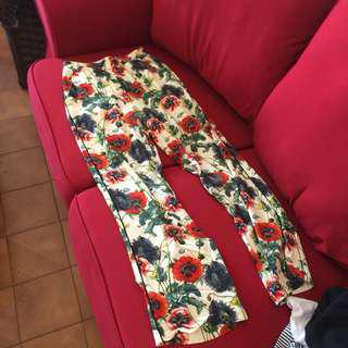 H&M Floral Long Pants