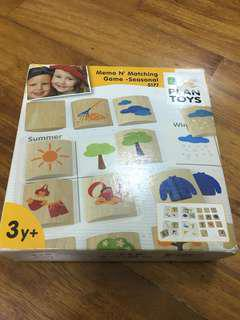 Plan Toys Memo n Matching 4 Seasons Matching Game
