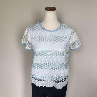 Lace Baby Blue Blouse