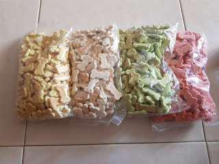 Dog Biscuits in Various Flavours