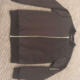 Black boohoo bomber jacket