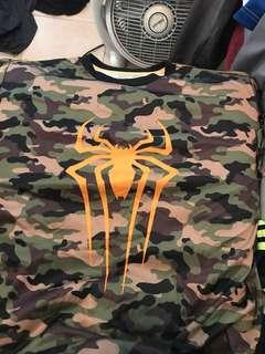 Spiderman workout shirt
