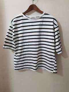 Oversized stripped shirt