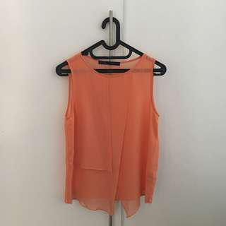 ZARA peach top