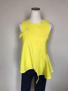 Bright Asymmetrical Blouse