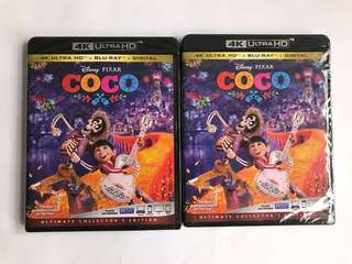 Coco 玩轉極樂園 4k UHD + bluray + digital copy 美版 Disney 迪士尼 Pixar