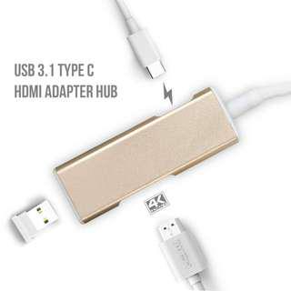 Mini OTG PD Charger USB 3.1 Type C to HDMI Adapter Hub - S1417