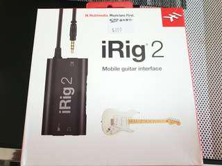 IK Multimedia iRig2 Guitar Interface Adapter for Android or iOS devices