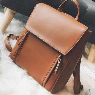 bb59fa783373 Backpack   Sling Bag 2-way School Bag for girls Office Work leather bagpack  for