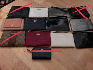 Coach Wristlets (stock update)