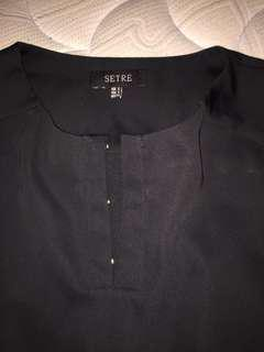 Like new Black silk like blouse