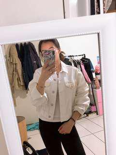 Top Shop White Denim Jacket