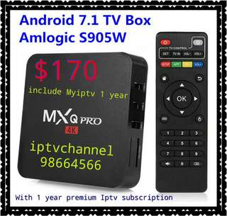 MXQ Pro New Version Come With 1 year  Iptv Subscription