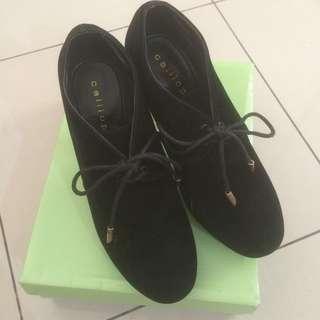 Calliope Elvita Black 36 Boots High Heels Wedges