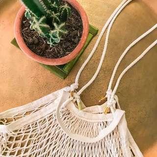Net bag with long handle