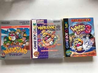Wario Collection Gameboy Cartridge