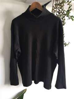 Dark grey mock neck jumper