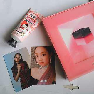 Blackpink album & jennie photocard