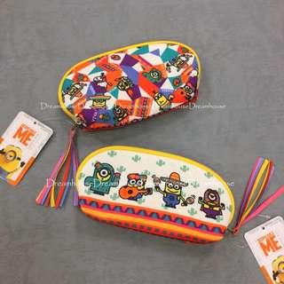 大阪環球影城 小小兵 小黃人 尼龍 墨西哥 拉丁 度假風 雙面圖案 化妝包 萬用包 隨身包 收納包 筆袋 鉛筆盒