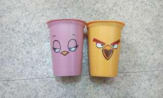 憤怒鳥紀念馬克杯含矽膠蓋 便宜出售