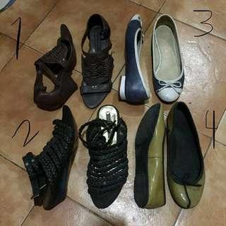 Aldo and Zara (sandals, flats, heels)