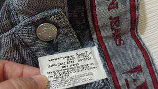 Armani灰色低腰牛仔褲made in Italy