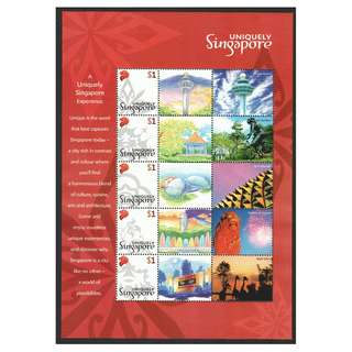 SINGAPORE 2005 UNIQUELY SINGAPORE MYSTAMP SOUVENIR SHEET OF 5 STAMPS IN MINT MNH UNUSED CONDITION
