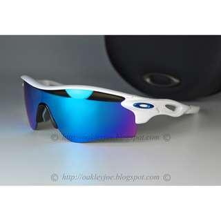 8c82b3c7a4 BINB Oakley Radarlock Path Asian Fit Custom polish white + sapphire iridium  + metallic blue
