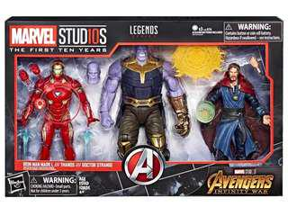 MCU 10th Marvel Legends Infinity War Thanos 3-Pack Box Set