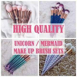 🚚 *CLEARANCE SALE* Mermaid / Unicorn Make Up Brushes SET 10-12pcs