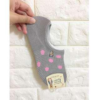 🚚 彼得兔🔰點點船型襪--灰
