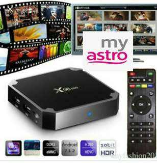 Fully loaded TV box latest movies drama live TV Astro