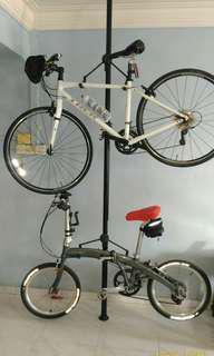 Dual bicycle rack