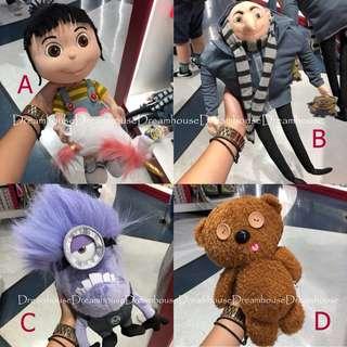 大阪環球影城 神偷奶爸 格魯 艾格尼斯 獨角獸 提姆熊 泰迪熊 紫色小小兵 中毒版 玩偶 娃娃 布偶