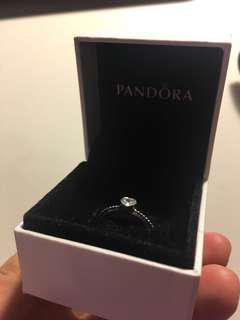 Silver love heart pandora ring!!(only worn to take picture)