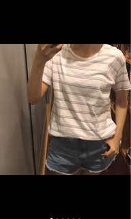 🚚 條紋圓領短T恤