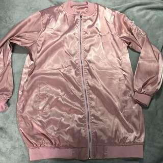 Jacket Oversized Silk Pink