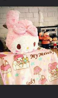 Melody cushion blanket zip cartoon pink