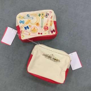 大阪環球影城 限定 美少女戰士 SAILOR MOON 25周年 帆布 刺繡 化妝包 萬用包 收納包 隨身包