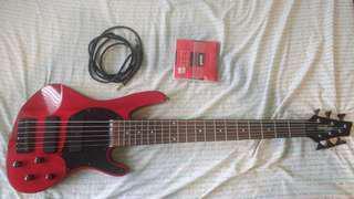 Washburn XB-126 Bantam series 6 string bass guitar