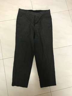 Tomorrowland grey cropped pants 30
