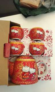 Guo Da Li  Hello kitty tea set