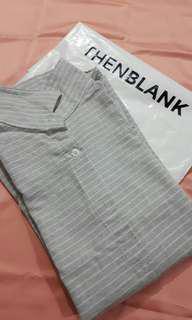 Grey Stripes Shirt THENBLANK