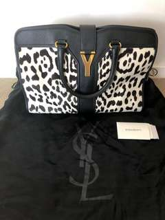 ((Final Call!!))(Rare) 100%Authentic 95%New YSL Cabas Chyc Leopard