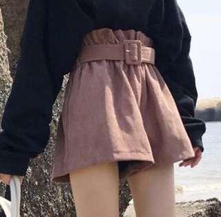 High waisted pink shorts